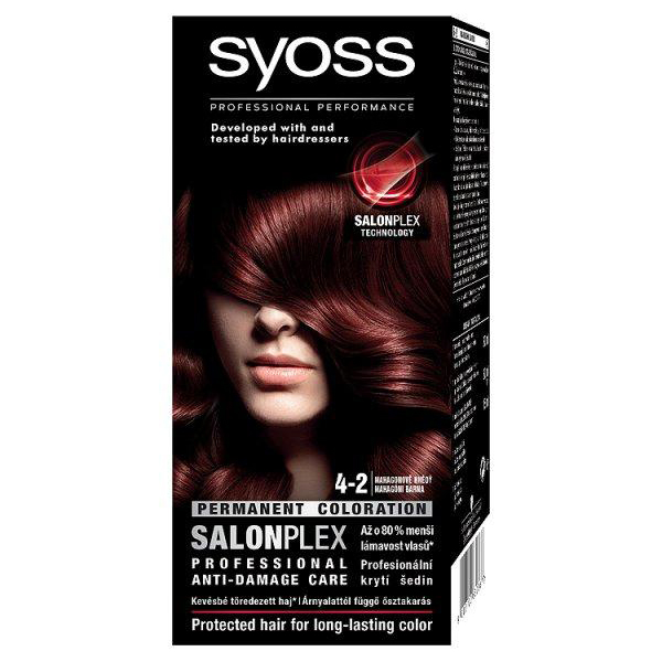 Syoss Color Professional Permanent Coloration 4 2 Mahogany Brown