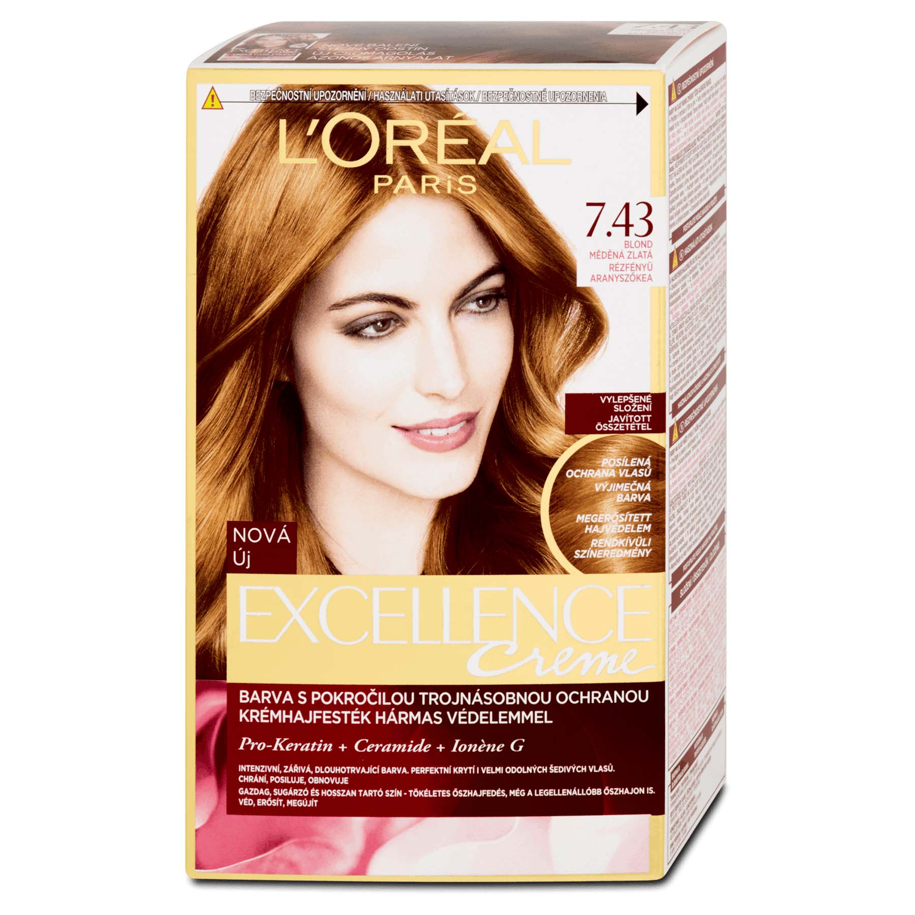 Loral Paris Excellence 743 Copper Golden Blonde Hair Dye