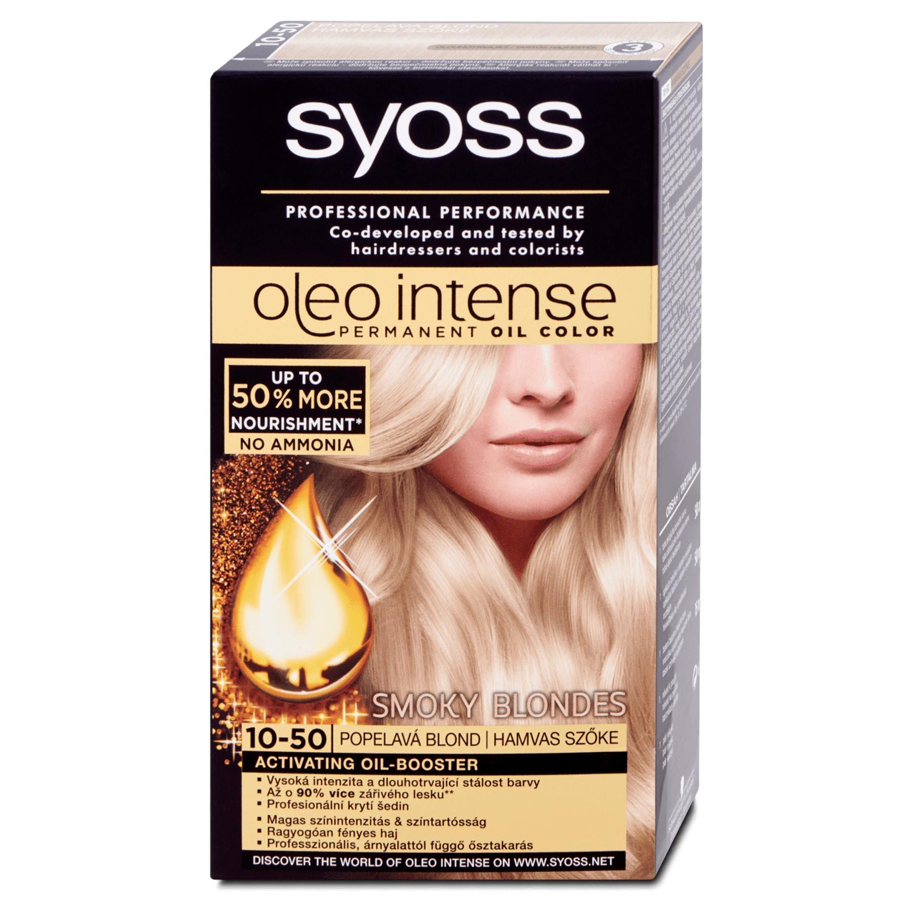 Syoss Oleo Intense Permanent 10-50 Ashy Blonde Hair Oil Color ... dba620ceb8e