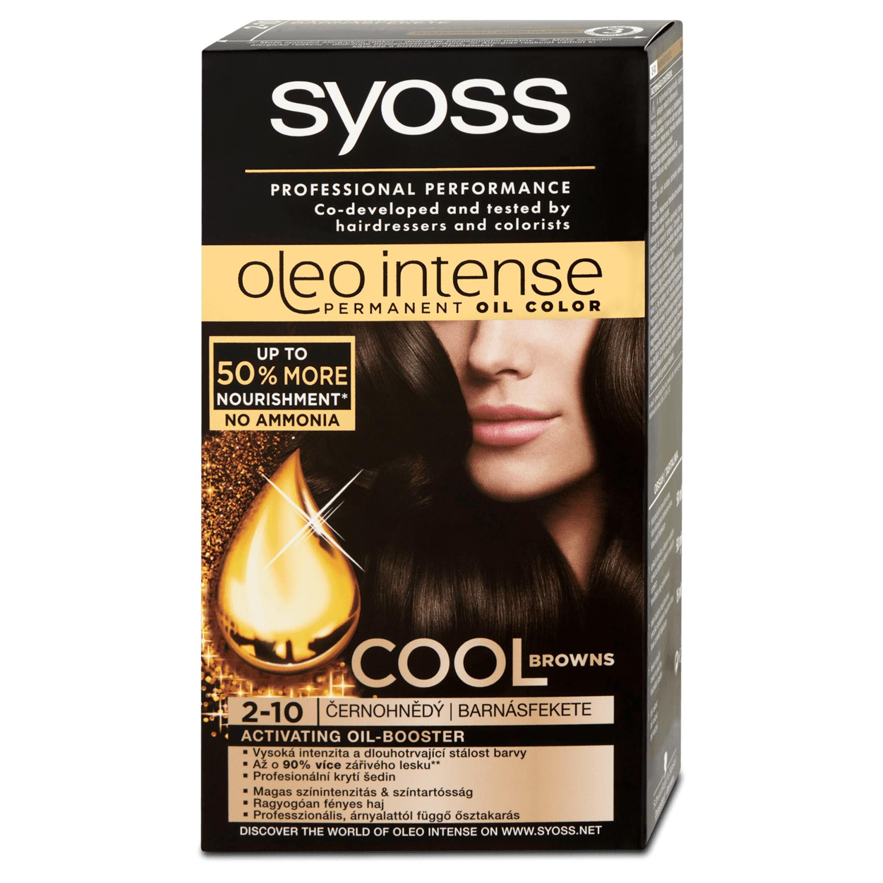 Syoss Oleo Intense Permanent 2 10 Black Brown Hair Oil Color