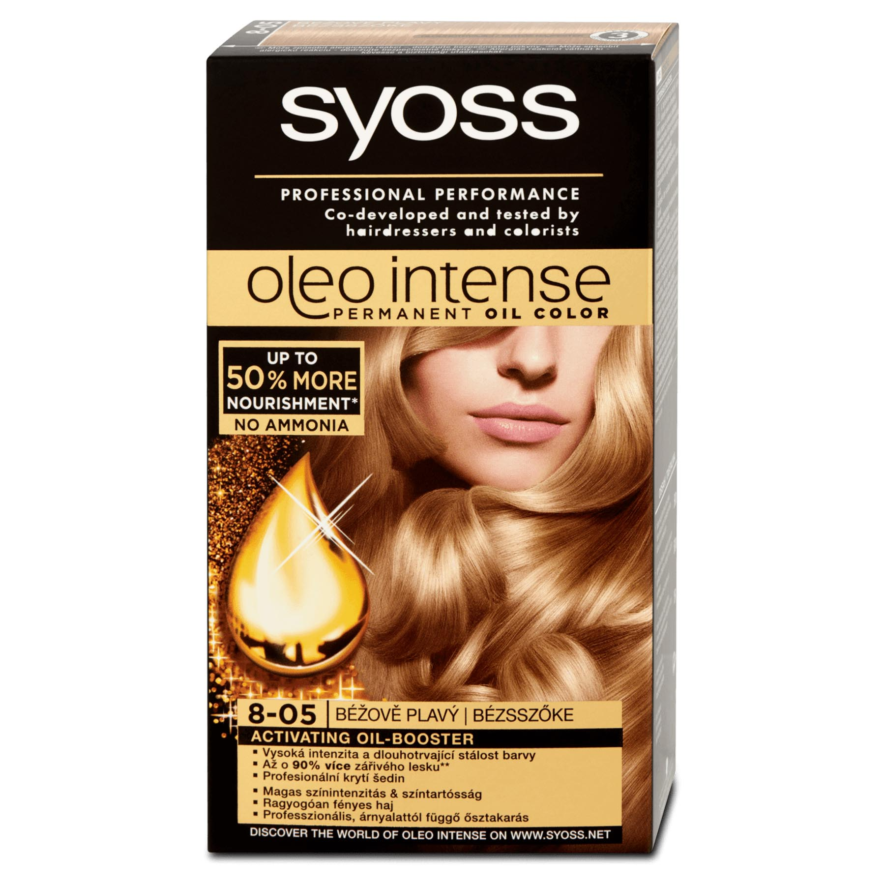 Syoss Oleo Intense Permanent 8-05 Beige Blond Hair Oil Color ...