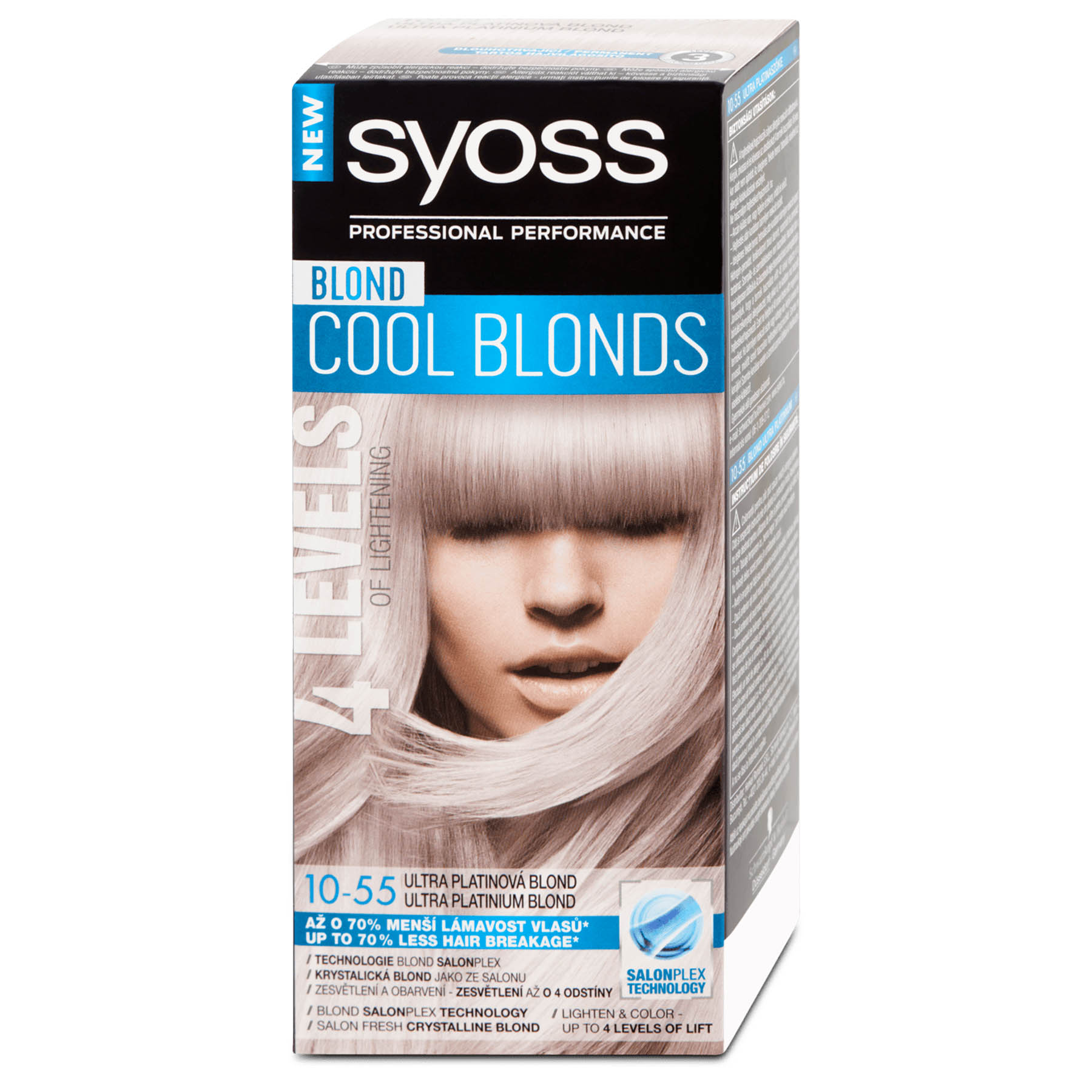 Syoss Color Professional Permanent Coloration 10 55 Ultra Platinum